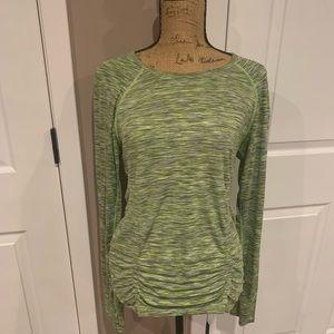 Green workout shirt